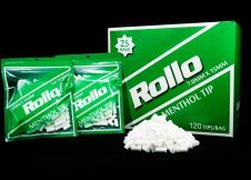 ROLLO GREEN MENTHOL SLIM 7mm x 15mm 120 tips_bag