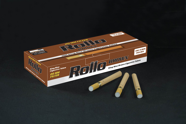 Rollo Rollo Brown Cigarette Tubes